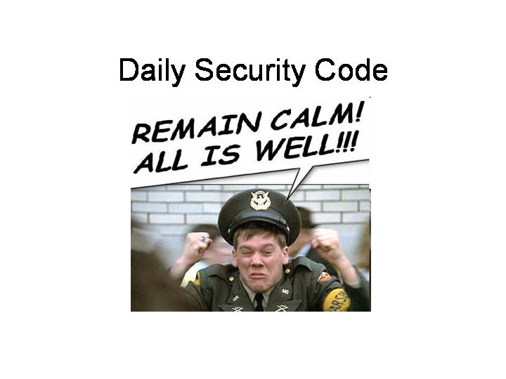 Daily Security Code