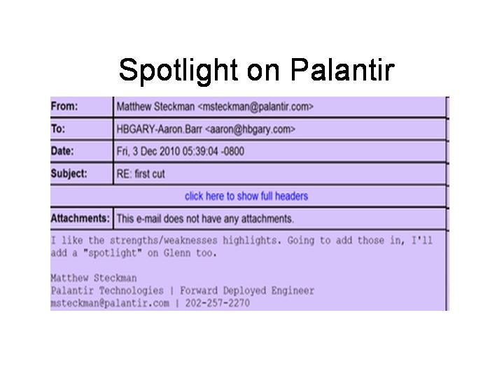 Spotlight on Palantir